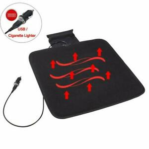 12v Car Heated Seat Cushion Cover Pad Winter Warmer Fit For Auto Home Office
