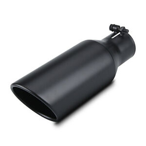 Exhaust Tip 2 5 Inlet 4 Outlet 12 Long Black Bolt On Muffler Tip For Tailpipe