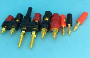 Gold Plated Connector Speaker Amplifier Terminal Binding Post Banana Plug 4mm