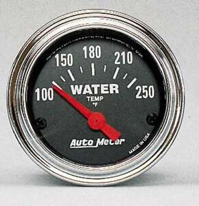 Auto Meter 2532 Gauge Water Temp 2 1 16 100 250 Electric Traditional Chrome