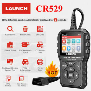 Launch Cr529 Obd2 Can Eobd Auto Car Code Reader Diagnostic Scanner Tool Engine