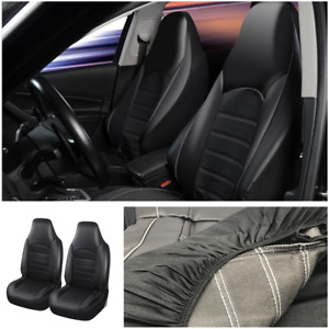 Front Car Seat Covers High Back Bucket Protector Cushion Universal Fit Most Cars