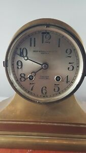 Chelsea Ship Bell Henry Birks Sons Clock Very Rare Serviced Works Good