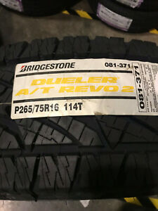 4 New P 265 75 16 Bridgestone Dueler A t Revo 2 Tires