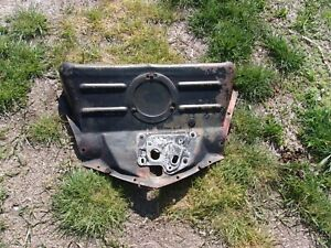 1946 48 Chevrolet Upper Radiator Air Deflector With Latch Inspection Cover