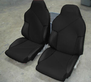 Chevy Corvette C4 Sport 1994 1996 Black S leather Custom Fit Seat Cover