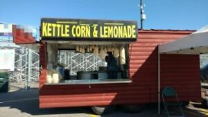 Enclosed Log Cabin Style 30 Kettle Corn Concession Trailer In Great Condition F