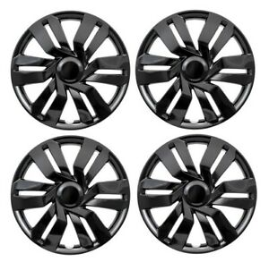 New 15 Black Hubcaps Wheelcovers For 2015 2017 Honda Fit Set Of 4