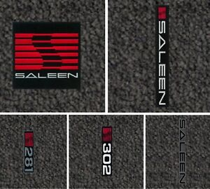 Lloyd Mats Ultimat Saleen Logo Dark Grey Front Floor Mats 2005 2010 Mustang