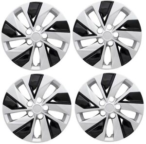 New 16 Hubcap Wheelcover For 2019 2020 Nissan Altima Silver Black Set