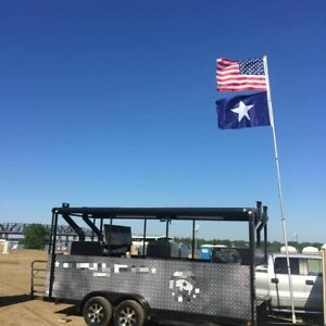 Used 2015 9 X 18 Barbecue Food Concession Trailer Read To Go Bbq Pit For S