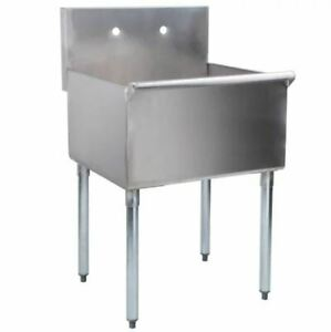 24 Stainless Steel One Compartment Commercial Restaurant Sink