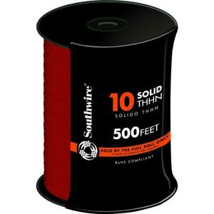 Electrical Wire 500 Ft Solid Cu Thhn 10 gauge Wiring For Outlets Switches