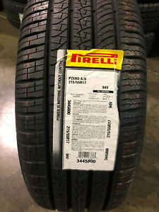 2 New 215 55 17 Pirelli Pzero All Season Tires