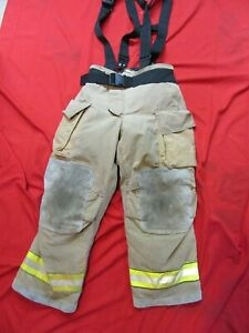Mfg 2011 Globe Gxtreme 36 X 30 Firefighter Turnout Bunker Pants Suspenders