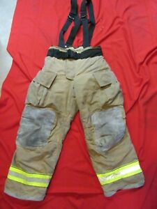 Mfg 2013 Globe Gxtreme 36 X 30 Firefighter Turnout Bunker Pants Suspenders