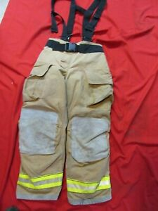 Mfg 2011 Globe Gxtreme 34 X 36 Firefighter Turnout Bunker Pants Suspenders