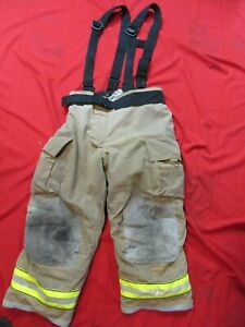 Mfg 2011 Globe Gxtreme 40 X 32 Firefighter Turnout Bunker Pants Suspenders