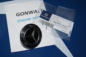 Mercedes Benz Black Flat Hood Badge Emblem C E W212 W204 Genuine 0008171701