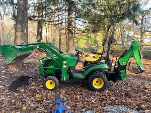 2014 John Deere 1025r Sub compact Tractor Loader Backhoe And 54 Cutting Deck
