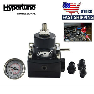 An8 8 6 Fuel Inject Regulator With Boost And Gauge High Pressure 8an Black