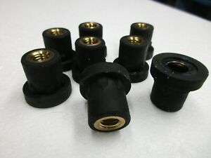 8 Rubber Vibration Isolator Mounts M8 1 25 Internal See Pics For Dimensions