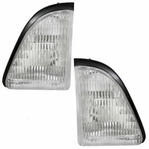 Ford Mustang Inner Park Light Pair Set Right Left 87 88 89 90 91 92 93 1992 1993