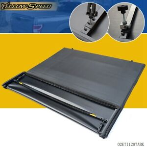 For Ford F 150 6 5ft 78in Bed Black Tri fold Soft Tonneau Cover 1997 2003