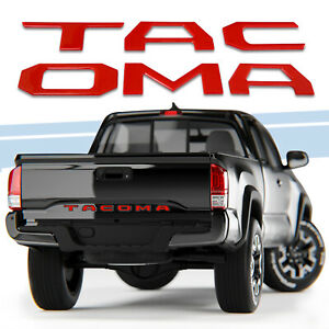 3d Raised Tailgate Insert Letters Emblem Fit 2014 2019 Toyota Tacoma Gloss Red