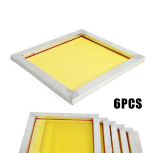 Pre stretched Aluminum Silk Screen Printing Frames With 200 Mesh 6 Pack Screens