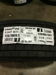 1 New 225 70 19 5 Lrf 12 Ply Goodyear G647 Rss Commercial Tire