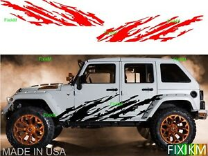 Vinyl Graphics Mud Splash Off Road Side Decal Cars Trucks Suv Trailer 4x4 4wd 3