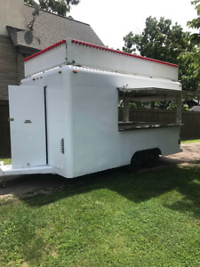 Well maintained 7 5 X 15 Waymatic Food Concession Trailer Mobile Food Unit F