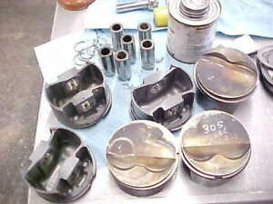 Sbc Mahle 305 030 Forged Pistons 3 766 Bore 550766f05 1 55 Pin Ht Flat Top