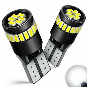 2x T10 501 194 W5w Smd 24 Led Car Hid White Canbus Error Free Wedge Lights Bulb