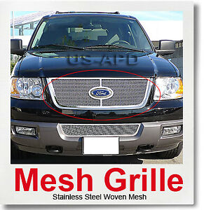 For 03 06 Ford Expedition Stainless Mesh Grille Insert