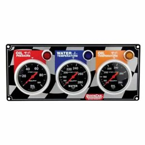 Quickcar Racing Products 61 0201 3 Gauge Panel Kit With Auto Meter Sport Comp