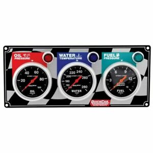 Quickcar Racing Products 61 0211 3 gauge Panel Kit With Auto Meter Sport comp