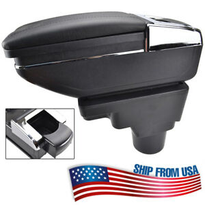 Xukey Car Armrest Cup Holder Storage Box Center Console For Chevrolet Sonic Aveo