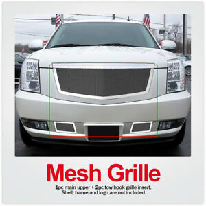 For 2007 2014 Cadillac Escalade Stainless Steel Mesh Grille Combo