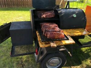 All Stainless Steel 4 X 8 Open Barbecue Trailer Used Mobile Barbecue Pit For