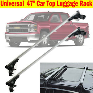 For Chevy Silverado 47inch Car Top Luggage Cross Bar Roof Rack Carrier Skidproof