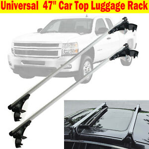 Car Top Luggage Roof Rack Cross Bar Carrier Adjustable For Chevy Silverado Ford