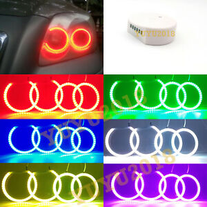 Bluetooth Rgb Halo Rings For Toyota Avensis T250 03 09 Headlight Led Angel Eyes