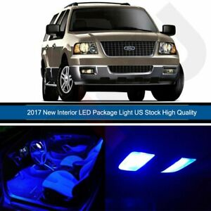 10x Car Led Bulb For Ford Expedition 2000 2006 Interior Package Lights Kit Blue