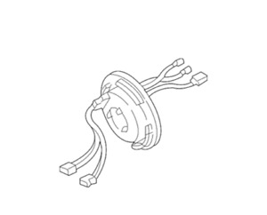 Genuine Mercedes benz 170 460 01 49 Contact Ring Clock Spring Horn