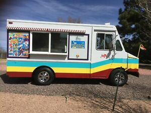 Low Mileage Chevrolet Ice Cream And Snowball Truck Mobile Ice Cream Business F