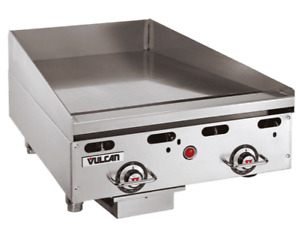 Vulcan Msa24 101 24 Countertop Natural Gas Griddle With Snap Action Thermostati