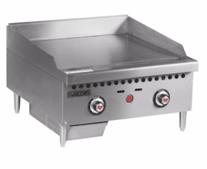 Vulcan Vcrg24 t 24 Gas Griddle W Thermostatic Controls 1 Steel Plate Natur
