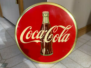 VINTAGE COCA COLA SIGN 1950s COCA COLA CELLULOID BUTTON SIGN PHILA PA ,GEORGIA